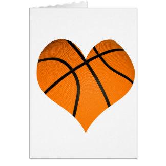 Basketball Heart Shaped Card