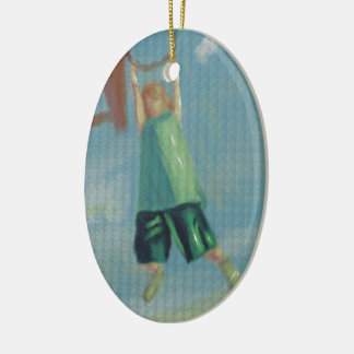 Basketball Heights, Women Ceramic Oval Decoration