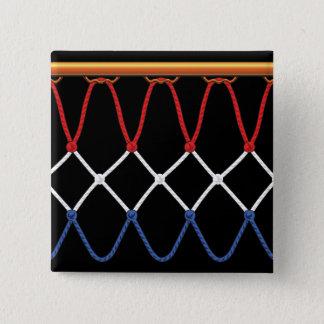 Basketball Hoop Net_red,white,blue Team U.S.A. 15 Cm Square Badge