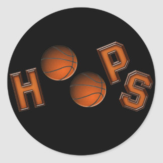 Basketball Hoops Classic Round Sticker