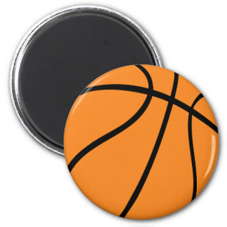 basketball icon 6 cm round magnet