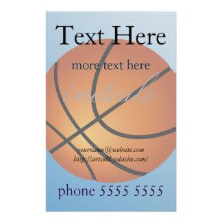 Basketball Icon Blue Background 14 Cm X 21.5 Cm Flyer