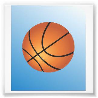 Basketball Icon Blue Background Art Photo