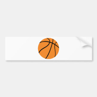 basketball icon bumper sticker