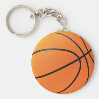 Basketball in 3d basic round button key ring