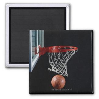 Basketball in Hoop Fridge Magnets