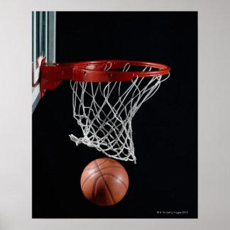 Basketball in Hoop Poster
