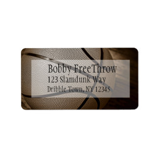 Basketball in Sepia Address Labels