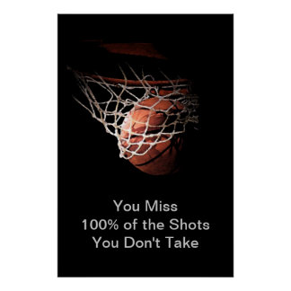 Basketball in Shadow Poster Print