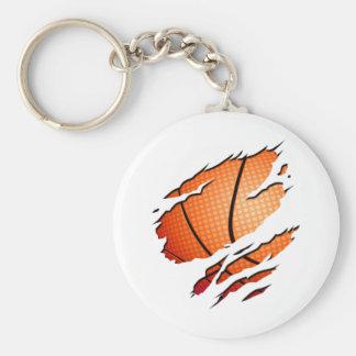 basketball_inside basic round button key ring