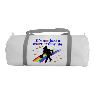 BASKETBALL IS MY LIFE BASKETBALL DESIGN GYM DUFFEL BAG