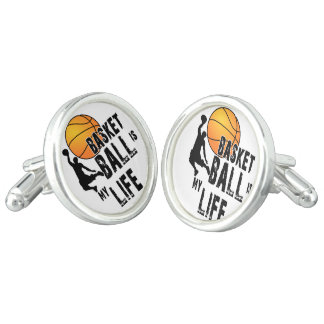 Basketball is my life cuff links