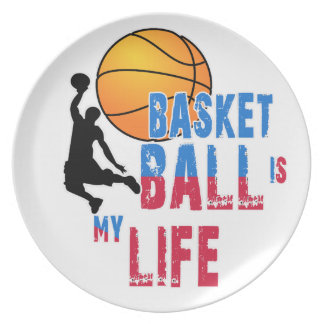 Basketball is my life plate