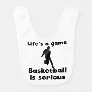 Basketball Is Serious Baby Bib