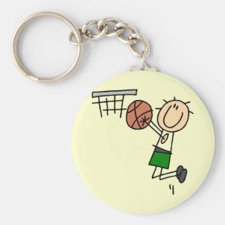 Basketball Jump Shot - Green T-shirts and Gifts Keychain