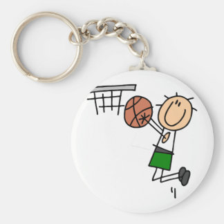 Basketball Jump Shot - Green T-shirts and Gifts Keychain