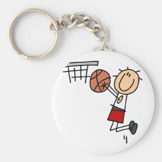Basketball Jump Shot Red Tshirts and Gifts Keychain