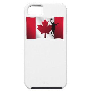 Basketball Layup Canadian Flag Tough iPhone 5 Case