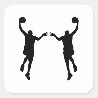 Basketball Layup Mirror Image Sticker