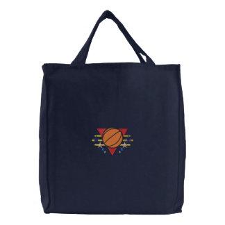 Basketball Logo Canvas Bag