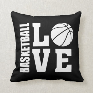Basketball Love Black Cushion