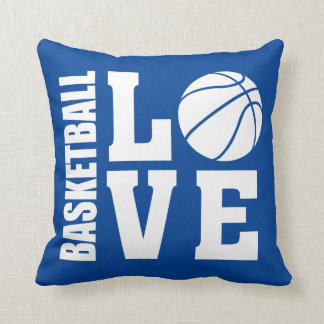 Basketball Love Blue Cushion