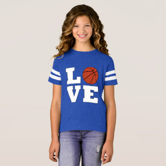 Basketball LOVE Girls Basketball Player Jersey T-Shirt