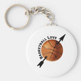 Basketball Love Basic Round Button Key Ring