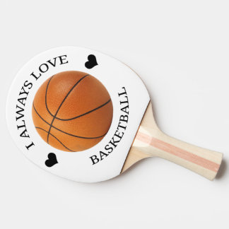 basketball love sport passion ping pong paddle