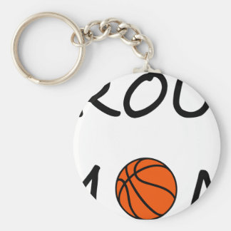 Basketball mom key ring