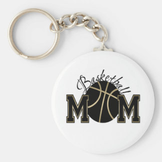 Basketball Mom Basic Round Button Key Ring