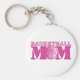 Basketball Mom Pink Basic Round Button Key Ring