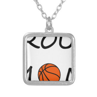 Basketball mom silver plated necklace