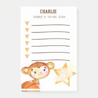 Basketball Monkey Task List Post-it Notes