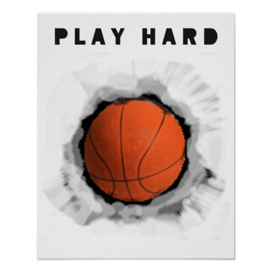 Basketball Motivation Poster Zazzle Com Au