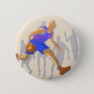 Basketball Moves Art 6 Cm Round Badge