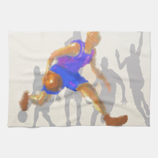 Basketball Moves Art Tea Towel