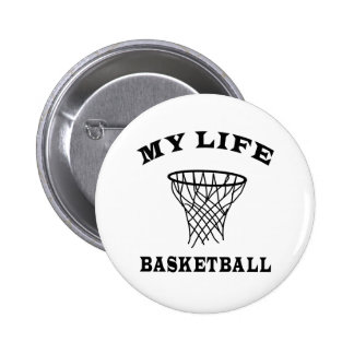Basketball My Life 6 Cm Round Badge