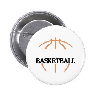 Basketball Name Drop 6 Cm Round Badge