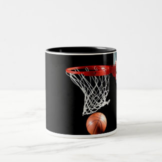 Basketball NBA Black 11 oz Two-Tone Mug