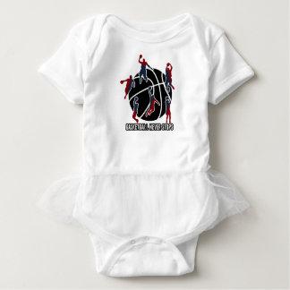 Basketball never stops baby bodysuit
