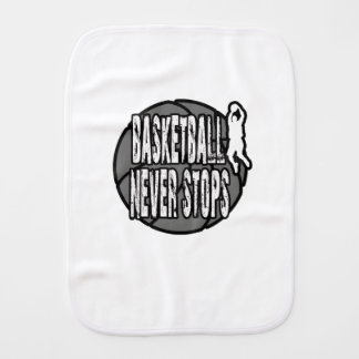 Basketball never stops burp cloth