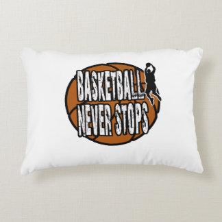 Basketball never stops decorative cushion