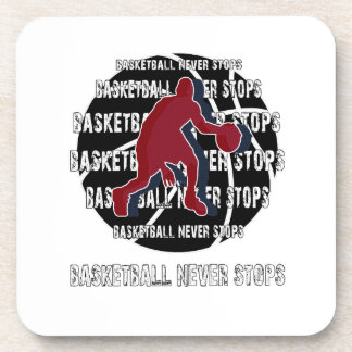 Basketball never stops drink coaster