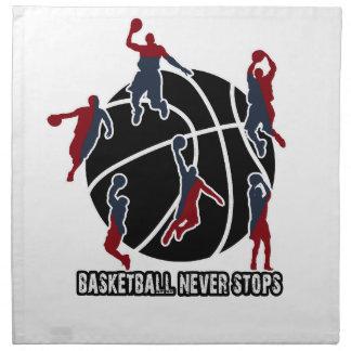 Basketball never stops napkin