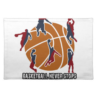 Basketball never stops placemat