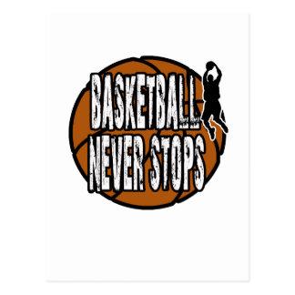 Basketball never stops postcard