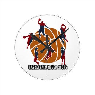 Basketball never stops round clock