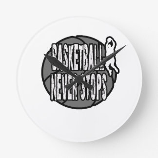 Basketball never stops wall clocks