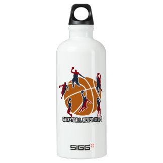 Basketball never stops water bottle